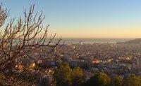 Vue plongeante sur Barcelone